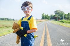 Blue Amber: Nathan as a Minion. Minion Photo Shoot, Minion Costume. Click on the photo to see more of the photo shoot! ©Blue Amber Photography, NC