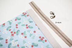 Cosmetic Bags Zipper Makeup Bag ~ DIY Tutorial Ideas!