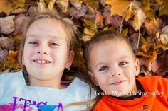 Fall sibling portrait