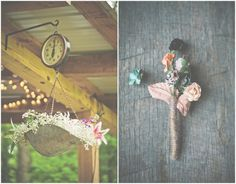 Vintage Country Wedding Flowers, I particularly like using props that are around a venue for flower opportunities.