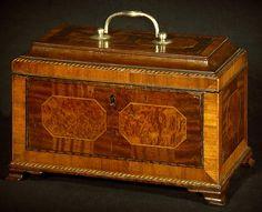 A Fine George III Mahogany Tea Caddy - Hyde Park Antiques, Ltd.