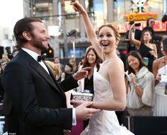 Jennifer Lawrence and Bradley Cooper.