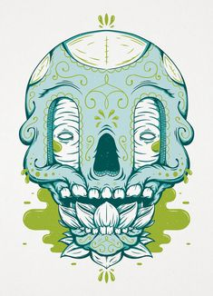 Sugar Skull // Illustration Print