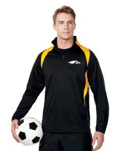 Mens Polyester micro Fleece 1/4 zip pull over.   Tri mountain F7351 #Polyester #Microfleece #sport