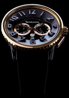 Tendence Black/Rose Gold Chronograph - Cool Watches from Watchismo.com