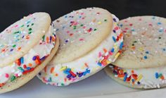 Cake Batter Ice Cream Sandwiches by grinandbakeit #Cake_Batter #Ice_Cream_Sandwiches #grinandbakeit