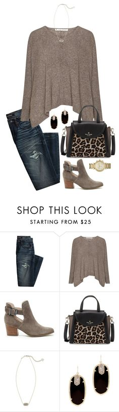 """""""let me love you """" by hannaclairee ❤ liked on Polyvore featuring Canvas by Lands' End, Sole Society, Kate Spade, Kendra Scott and Michael Kors"""