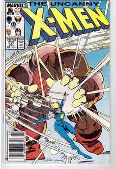 The Uncanny X-Men #217 May 1987 Marvel Comic Book Folly's Gambit Juggernaut