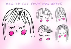 Hair stylists from top salons give detailed descriptions for how to cut your own bangs, according to the style of fringe you have.