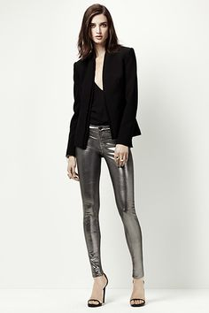 Holiday Shine: J Brand 815 Super Skinny Galactic Pewter   #JBRANDHoliday #WMag