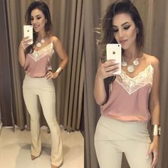 Chic Outfits, Summer Outfits, Fashion Outfits, Womens Fashion, Work Attire, Casual Looks, Casual Wear, Ideias Fashion, Clothes For Women