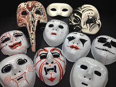 MASCHERE Maschera di #carnevale bianca e/o decorata Maschere in cartapesta, plastica, carta e cartone le trovi a Bari da Colour Academy #mask #carnival #papiermache #bari