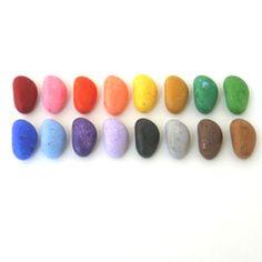 crayon stones. stones, crayons, crayon rock, crayon art, crayon stone