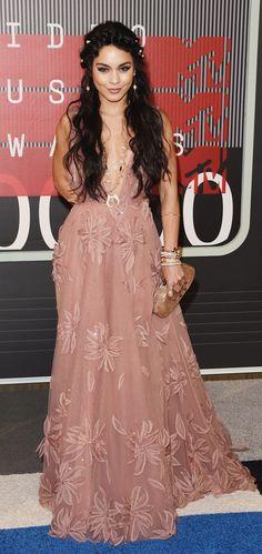Vanessa Hudgens showed off a bohemian princess look.