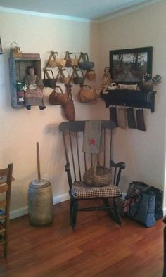baskets on a folding peg-thingy= the sewing room organization I'm looking for