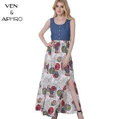 c3897667f1071 YISTTU Sexy Plus Size Women Maxi Boho Dress Ice Silk Knit Flared Print  Floral V-neck Batwing Sleeve Tie Back lady Floor Vestdios