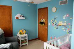 quarto bebê azul adesivo parede corujas                                                                                                                                                                                 Mais