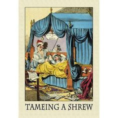 Buyenlarge 'Taming a Shrew' by Thomas Tegg Painting Print