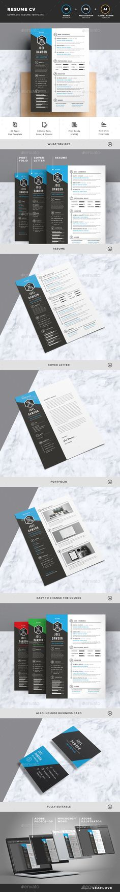 Resume by LeafLove Resume CV is a professional, clean, & creative resume template designed to make a good impression. Microsoft Word Resume Template, College Resume Template, Simple Resume Template, Resume Design Template, Creative Resume Templates, Cv Template, Cv Web, Create Business Cards, Marketing Words