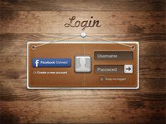 login with Facebook #digitaldesign #design #web