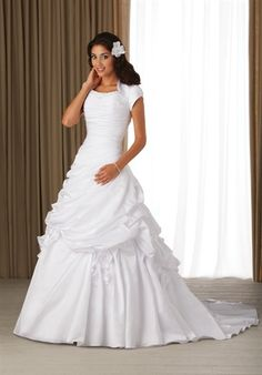 A very cute, pretty modest wedding dress