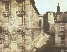 Partie du Queen's College, Oxford, 4 septembre 1843   Photographe : William Henry Fox Talbot