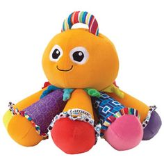 $29.99 -  As baby toys go, the Octotunes is great.  • It will ensure your baby will have lots of fun making merry music. • A different note is played as you push each tentacle - how cool is that?. • This soft, lovable character also teaches baby about nurturing play. • Comes complete with a song book and a soft vanilla scent. • Octotunes is a great educational toy. r• DIMENSIONS: 11.5 X 9.5 X 9.5