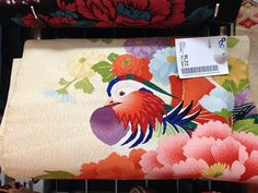Beautiful mandarin duck nagoya obi spotted at a recycle shop today. Price: ¥4,213.