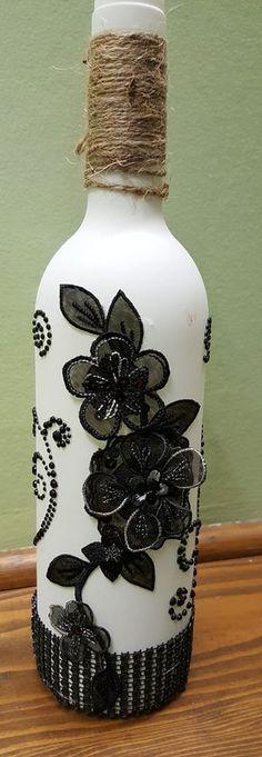 White Decorated Bottle