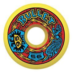 Santa Cruz BULLET ROUTE 66 Skateboard Wheels 66mm 95a YELLOW