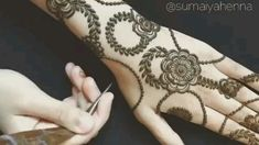Beautiful Design for more Visit dailyinfotainment… Henna Hand Designs, Henna Tattoo Designs, Henna Tattoos, Mehndi Designs Finger, Modern Henna Designs, Basic Mehndi Designs, Rose Mehndi Designs, Latest Henna Designs, Mehndi Designs For Girls