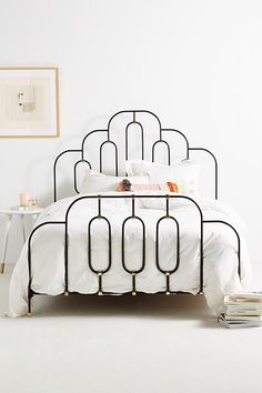 anthropologie deco bed. metal bed