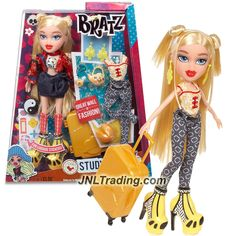 MGA Year 2015 Bratz Study Abroad Series 10 Inch Doll Set - CLOE to China with 2 Outfits, Teapot with Cup, Suitcase, Earrings, Purse and Stickers