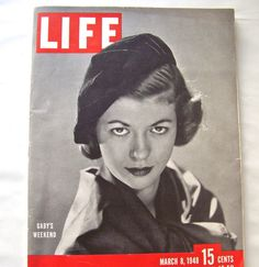 Vintage Life Magazine 1948 Gaby's Weekend by CynthiasAttic on Etsy