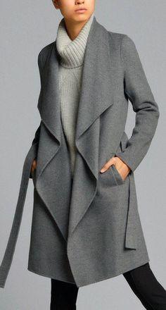 "Pattern of \""coat for beginners\"" Hijab Fashion, Fashion Dresses, Waterfall Coat, Mode Mantel, Cape Coat, Mode Hijab, Mode Inspiration, Winter Coat, Diy Clothes"