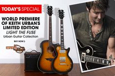 Keith Urban's guitar line on HSN - great Father's Day gift