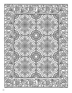 Dover Mystical Mandala Gallery | Dover Decorative Tile Coloring Book