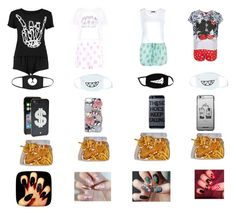 """""""When u and squad have a sleepover"""" by qkicey ❤ liked on Polyvore featuring Topshop, Boohoo, cutekawaii, Hello Kitty and Kate Spade"""