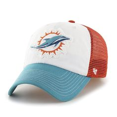 4320f84e03f21 Miami Dolphins 47 Brand Tri-Tone Privateer Closer Mesh Flexfit Slouch Hat  Cap