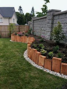The post 29 popular modern front yard landscaping ideas 19 appeared first on Vorgarten ideen. Garden Yard Ideas, Backyard Garden Design, Backyard Projects, Front Yard Fence Ideas, Simple Garden Ideas, New Build Garden Ideas, Diy Garden Ideas On A Budget, Garden Edging Ideas Cheap, Diy Fence