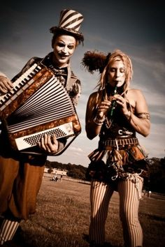 Holly Hayes on tin whistle & Ed Cox on accordion at Secret Garden Party.