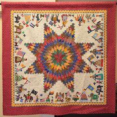 Janine-Holzman quilt. 4th of July Parade from Arizona Centennial Exhibit