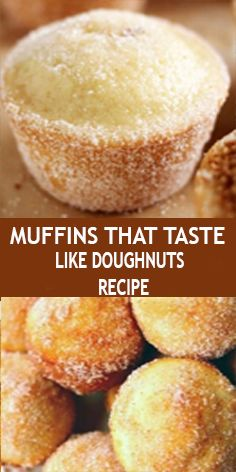 Muffins That Taste Like Doughnuts What you need: cup sugar 1 large egg 1 cups all-purpose flour 2 tsp baking power tsp salt tsp ground nutmeg cup vegetable oil cup milk 1 tsp vanilla Just Desserts, Delicious Desserts, Yummy Food, Cake Mix Desserts, Lemon Dessert Recipes, Mini Desserts, Muffin Recipes, Baking Recipes, Quiche Recipes