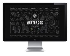This flexible and playful identity for Westbrook Brewing Co., was created by Fuzzco and inspired by both the visual cues found in wrought-iron work and ingredients found in their beers.