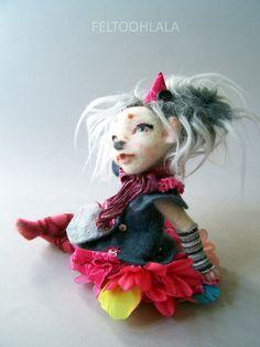 """art doll by FELTOOHLALA """"Spike"""""""