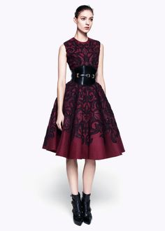 Gorgeous McQueen dress posted by the amazing Sarah Klassen.  See more @www.sarahklassen.com #sophisticated #gorgeous