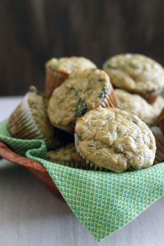 zucchini, feta, & olive oil muffins   withloveandcupcakes.com