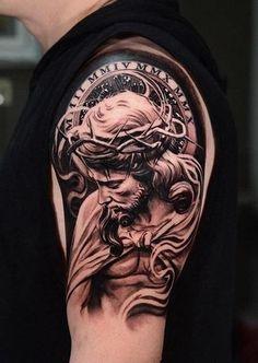 Resultado de imagen de cristo tattoo brazo