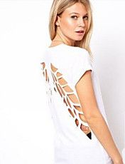 Vrouwen Sexy Cut Out T-shirt – EUR € 10.39