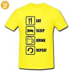 Eat Sleep Drink Repeat Funny Black Graphic Men's T-Shirt XX-Large (*Partner-Link)